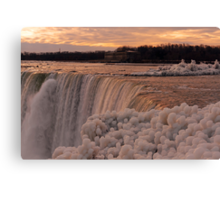 Da Ya Think It's Cold In Niagara? Canvas Print