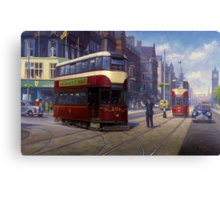 Edinburgh tram. Canvas Print