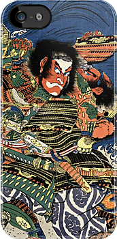 Two Samurai warriors in close combat iPhone / iPod case by Steve Crompton
