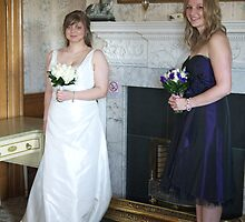 Wedding Preperation - Bride and Bridesmaid by AmandaJanePhoto