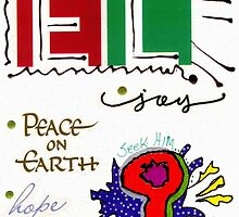 Joy and Peace on Earth Card by © Angela L Walker
