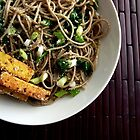 garlic soba noodles by Kimberly Morales