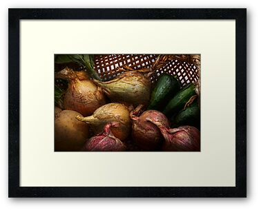 Food - Vegetables - Onions and Peppers by Mike  Savad