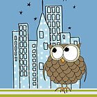 City Owl iPhone Case by KustomByKris