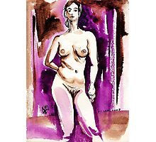 Drawing of Marie-Lise Naked Photographic Print