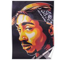 Tupac (stencilised) Poster