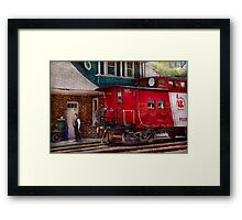 Train - Caboose - End of the line Framed Print