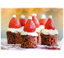 strawberry santas! Poster