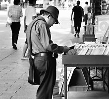 The Bookman B/W by Trish Woodford