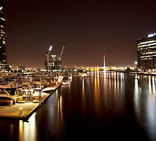 Docklands by night by Vicki Moritz