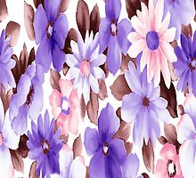 Wonderful Purple Flowers iPhone Case by purplesensation