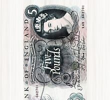 British 5 Pound Banknote by CaseBase