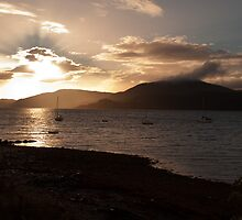 Sunset on Strachur Bay by Paul Hutchinson