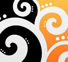 Elegant Swirls Yellow by Rewards4life