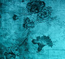 Blue Vintage Flowers Texture by Rewards4life