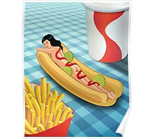 Hot Dog Girl Poster