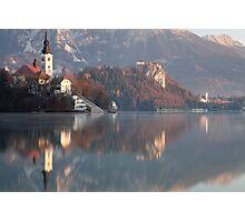 Morning at Lake Bled Photographic Print