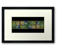 Below The Water Line Tetraptych [grunge] Framed Print