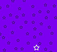 Stars with a Single White v3 - Purple by HighDesign