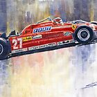 Ferrari 126 CK Gilles Villeneueve Spanish GP 1981 by Yuriy Shevchuk