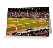 Red Sox game Greeting Card