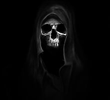 Skull in the darkness by aaronnaps