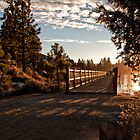 Sunsetting over Bridge by Merrian O. Lucando