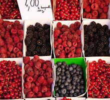 Berries in a provencal market by Christopher Cullen