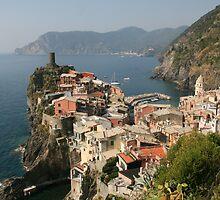 Vernazza - Cinque Terre, Italy by Rob Chiarolli
