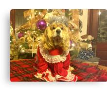 Maggie Pooh Bear at Christmas Metal Print