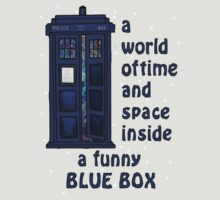 A world of time and space inside a funny blue box... by eclecticjustice