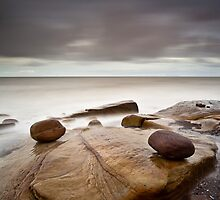 Pebbles On The Beach by Brian Kerr