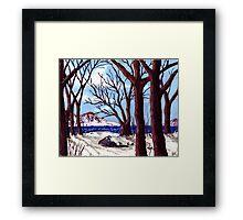 Northern Landscape oil painting  Framed Print
