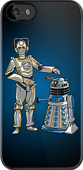Cyber3PO and R2Dalek by Kari Fry