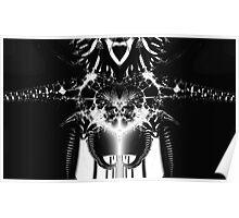 Transformer? Black and White Fractal. Poster