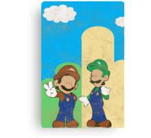 Minimalistic Super Mario Bros. Canvas Print