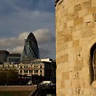 The Tower of London with Modern building in the background  by DavidHornchurch