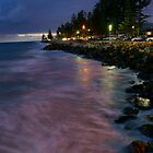 Brighton Beach at Night by sedge808