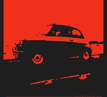 Fiat 500, 1973 - Red on charcoal by uncannydrive