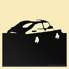 Saab 900, 1990 - Black on cream by uncannydrive