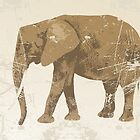 Vintage poster with elephant by schtroumpf2510