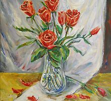 Still Life with Red Roses by Stefano Popovski