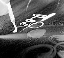 Vietnam calligraphy art - photo negatives by Nhan Ngo