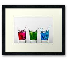 RGB Splash Framed Print