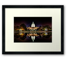 US Capitol Building at Night Framed Print
