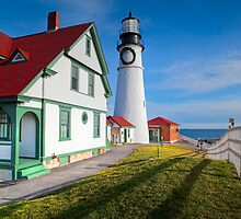 Portland Headlight - Cape Elizabeth, Maine by Sarah Beard Buckley