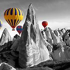 Hot Air Balloons Over Capadoccia Turkey by Paul Williams