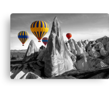 Hot Air Balloons Over Capadoccia Turkey Canvas Print