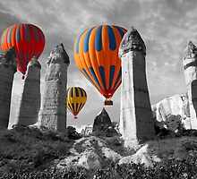 Hot Air Balloons Over Capadoccia Turkey - 6 by Paul Williams