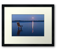 Moon view  Framed Print
